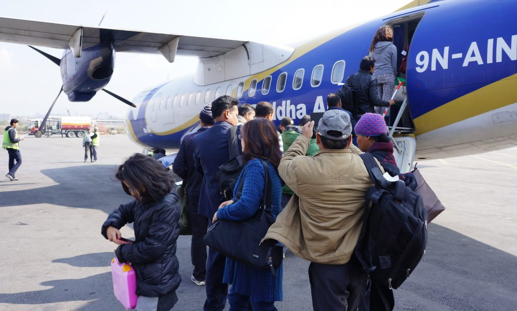 Buddha Air - ATR aircraft bound for  Lumbini, Nepal