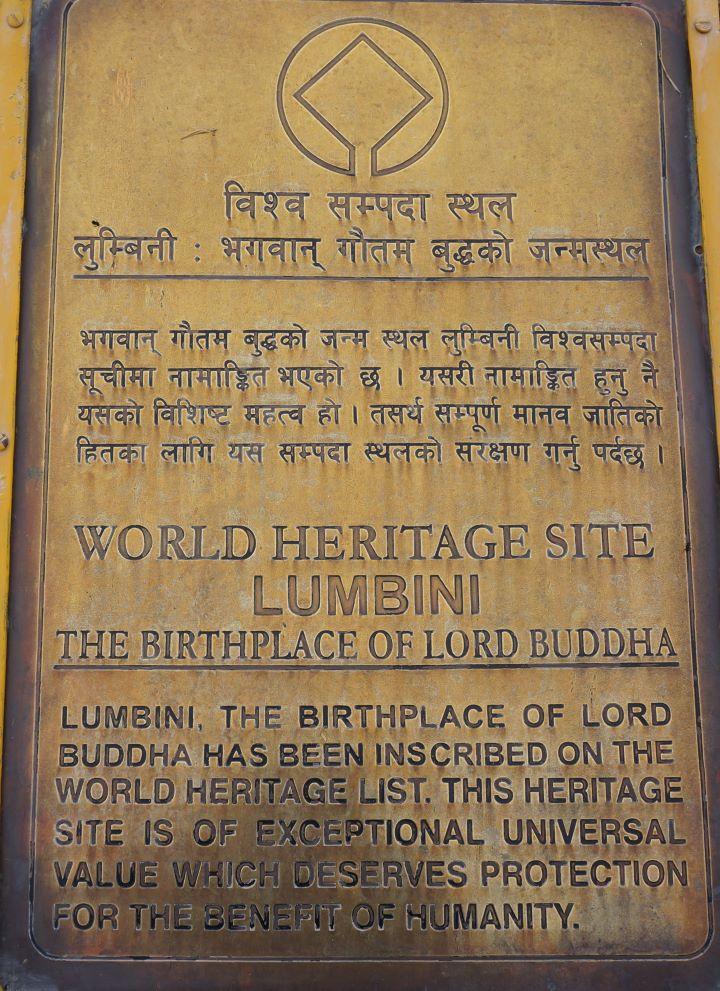 Lumbini - World Heritage Site